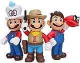 Yzoncd 3 unids / Set Super Mario Peach Kart Pull Back Car Mario Juguetes Bonitos Figura de acción Ja...