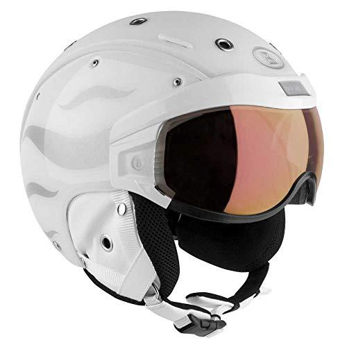 Bogner Helm B-VISOR FLAMES WHITE Größe S - Kopfumfang 52-55cm