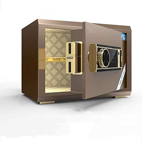 Cajas fuertes de armario, caja fuerte, pequeña casa de 25 cm, caja fuerte con contraseña de huellas dactilares de oficina, mesita de noche, antirrobo totalmente de acero en la pared, mini armario inv