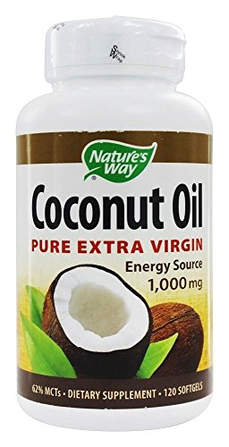 Natures Way 1000mg Coconut Oil Softgel - 120 per pack -- 1 each.