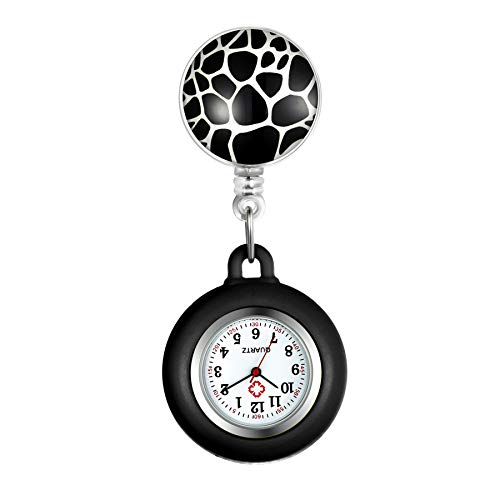 Lancardo ナース 時計 シリコンウォッチ アナログ クリップ 伸び縮み ナースウォッチ ケース外す可能 懐中時計 ポケットウォッチ プレゼント