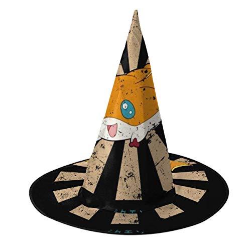 Sombrero de Halloween Patamon Retro Japons Dig-imon Sombrero de Bruja Halloween Disfraz Unisex para Vacaciones Halloween Navidad Carnavales Fiesta