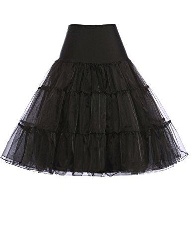 petticoat kleid unterrock wedding bridal 1950s petticoat kleid retro rockabilly rock kurz für ballkleid schwarz M,C1,Schwarz