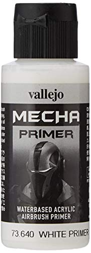 Vallejo 60ml'AV Mecha colore acrilico Airbrush Colour–White primer