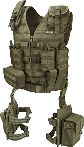 Barska BI12330 Loaded Gear VX-100 Tactical Vest & Leg Platforms (OD Green)