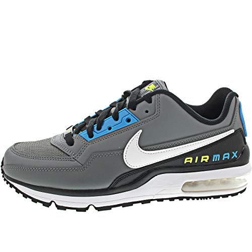 Nike Unisex Air Max LTD 3 Sneaker, Smoke Grey/White-Black-Laser Blue-Illusion Green, 44.5 EU