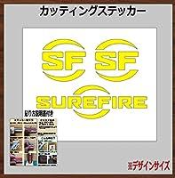 ⑫SUREFIRE シュアファイア カッティングステッカー【ペリカン・車などに!】 (黄色, 20×14cm 1枚)