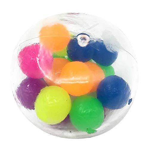Juguete Antistress Fidget Color Sensory Toy Toy Office Ball Ball Presión Bola Alivio Feliz Sensor Juguetes Sencillo Dimple Fidget Juguete (Color : 3PC)