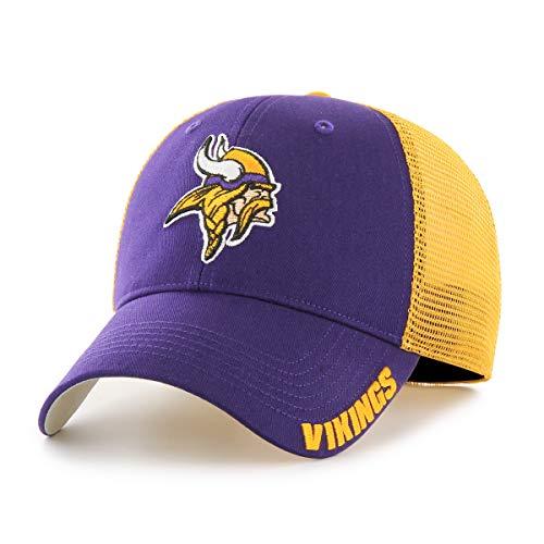 OTS NFL Minnesota Vikings Men's Hursh Center Stretch Fit Hat, Team Color, Large/X-Large