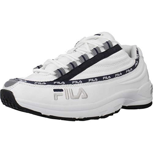 Zapatillas de Hombre FILA DSTR97 L Zapatilla de Deporte en Cuero Blanco 1010569-1FG