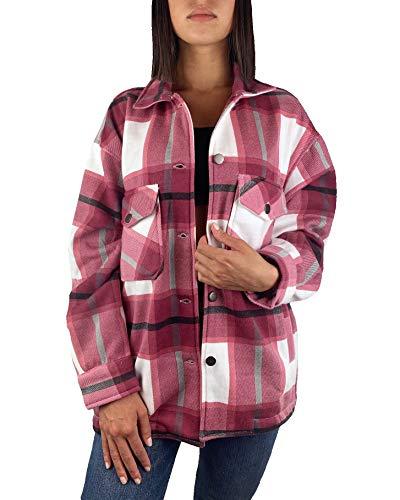 Worldclassca Damen Oversized KARO Hemd HEMDJACKE KARIERT HOLZFÄLLERHEMD LANGARMHEND MIT Brusttaschen HEMDBLUSE Bluse Shirt Designer Blogger NEU S-L 36-42 (M, Muster 9)