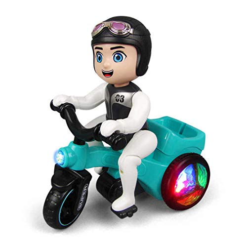 Kids Electric Tricycle Light Musical Motorcycle Cartoon Bicycle Electric Children Rotating Toy Car