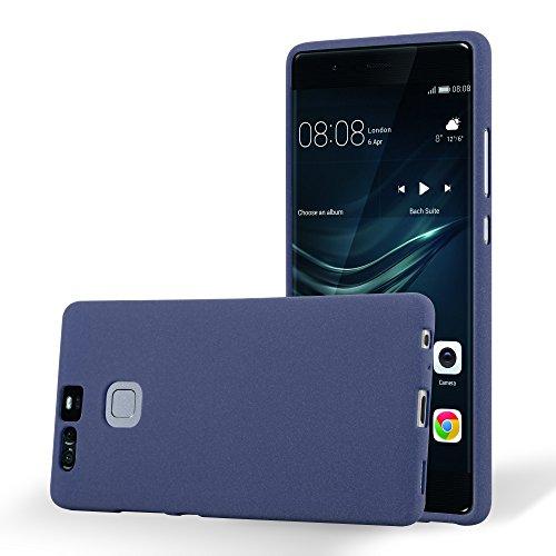 Cadorabo Custodia per Huawei P9 in Frost Rosso - Morbida Cover Protettiva Sottile di Silicone TPU con Bordo Protezione - Ultra Slim Case Antiurto Gel Back Bumper Guscio