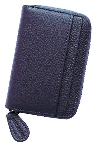 Womens Credit Card Holder Purse and Wallet Zip Leather Card Case RFID...