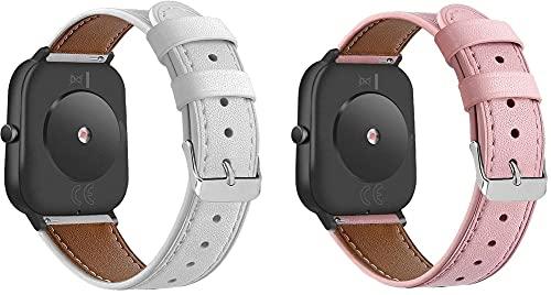 Classicase Quick Release - Compatible con Withings Steel HR Sport 40mm / Steel HR 40mm / ScanWatch 42mm Correas de Reloj Cuero (20mm, Pattern 3+Pattern 4)