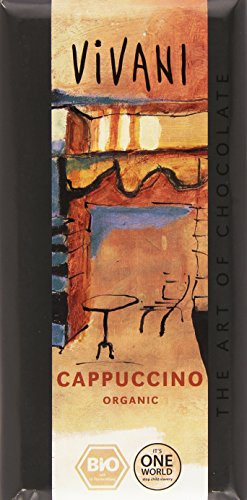 Vivani Chocolat Cappuccino Bio 100 g - Lot de 5