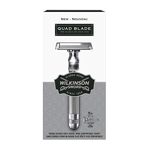 Wilkinson Sword Quad Blade Razor for Men With 5 Quad Blade Razor Refills