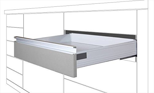 DIVALFER -- Distribuidora Valenciana de Ferretería CAJÓN Cierre Suave, 500mm, ALT: 83mm Blanco