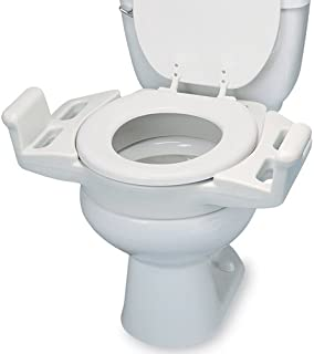Maddak SP Ableware Elevated Push Up Toilet Seat with Armrest