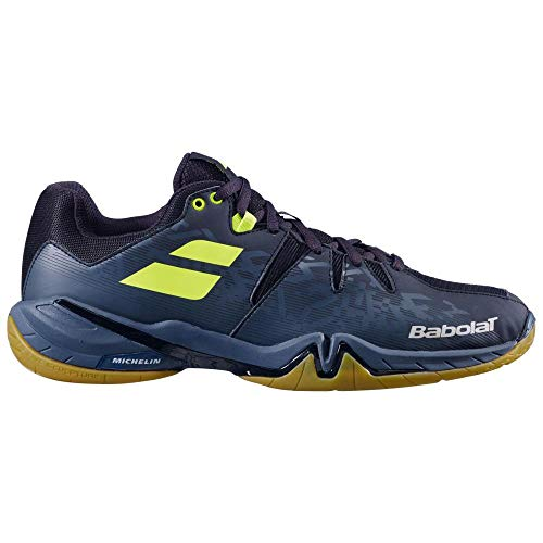 Babolat Shadow Spirit Men 2020 Black 12.5 (48) - Sportschuhe für Badminton, Fitness-, Indoorsportarten