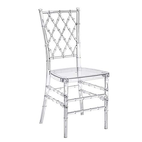 ZZFF Hochzeit Kristall Kunststoff Stuhl,Eleganz Stapeln Transparentes Chiavari-Fleisch,Outdoor-Stuhl,Hotel Restaurant Essstuhl Für Küche Zu Hause Klar 38.5x41.5x95cm(15x16x37inch)