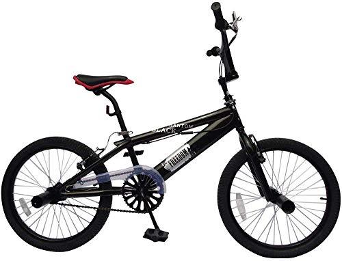 BMX Bici Bicicletta BMX Black Phantom Colore Nero Ruote da 20 Pollici Manubrio a 360°, 4 Pioli,...