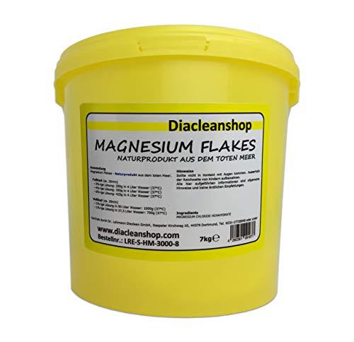 Magnesium Flakes aus dem Toten Meer 7kg – Magnesiumkristalle aus Magnesiumchlorid – 100% Naturprodukt - u.a. zur Herstellung von Magnesiumöl, Magnesium Spray, Magnesium Fußbad, Magnesium Vollbad uvm
