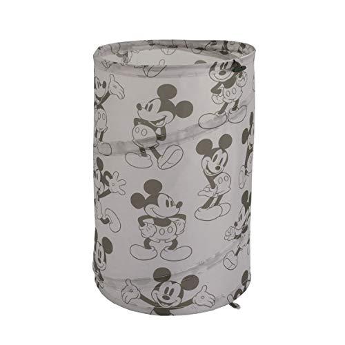 Disney Mickey Mouse Round Pop-Up Hamper, Grey/Black