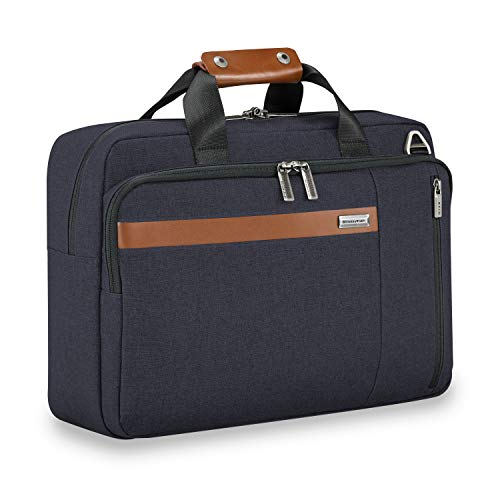 Briggs & Riley Kinzie Street-Convertible Brief Briefcase, Navy, One Size