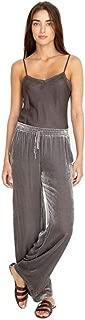 Women's Silk Velvet Sloane Easy Pants, Storm Cloud, X-Small