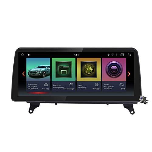 Car Stereo Sat Android 10.0 Radio 2 DIN Head Unit para BMW X5 E70 / X6 E71 2007-2013 Navegación GPS Reproductor Multimedia MP5 de 10.25 Pulgadas Receptor de Video con 4G WiFi DSP Carplay