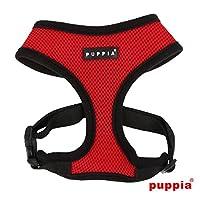 puppiapuppia正規販売店 pdcf-ac30胴輪 ソフトメッシュハーネス サイズ XS S M L M,RED