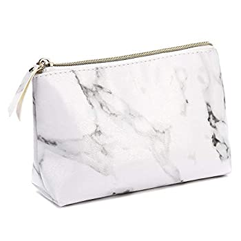 Marble Makeup Bags,LKE Cosmetic Display Cases Waterproof Marble Travel Cases Portable Makeup Bags Makeup Organizers 8.66x6.3x2.36Inches   Marble Makeup Bags