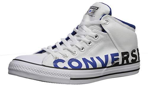 Converse Men's Chuck Taylor All Star High Street Wordmark 2.0 Sneaker, White/Black/Blue, 6.5 M US