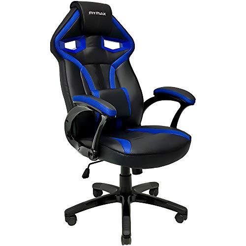 Cadeira Gamer MX1 Giratória Preto e Azul - Mymax, Mymax, 25.009040, Azul e preto