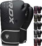 RDX Guantes de Boxeo para Entrenamiento y Muay Thai, Maya Hide Cuero Kara Mitones para Sparring, Kick Boxing, Boxing Gloves para Saco Boxeo, Artes Marciales Training