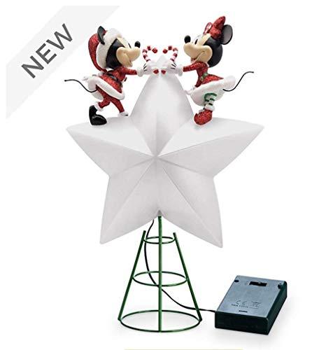 Disney Mickey und Minnie Holiday Cheer Beleuchtete Baumspitze Weihnachtsdekoration