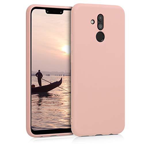 kwmobile Funda para Huawei Mate 20 Lite - Carcasa para móvil en TPU Silicona - Protector Trasero en Rosa Oro Mate