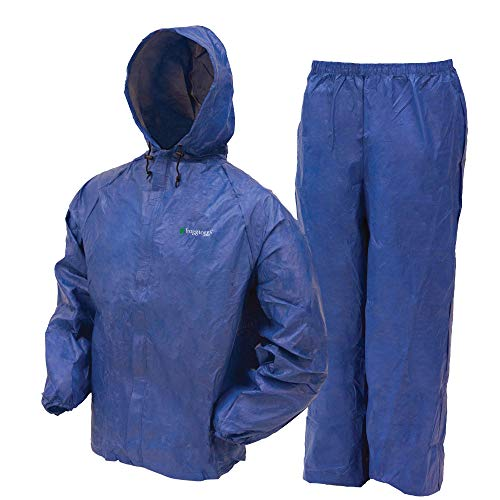 Frogg Toggs UL12104-12LG Ultra Lite Rain Suit Blue, Large