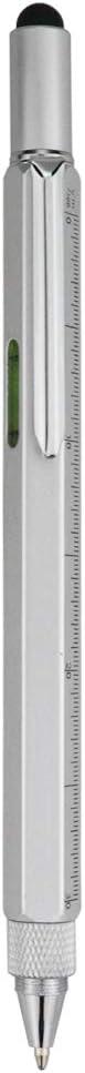 HeTaoCat Metal Multi tool Pen 6-in-1 Stylus Pen - With Screwdriver, Phillips Screwdriver, Flathead Bit Slotted Screwdriver, Ball