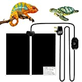 Reptile Heating Mat Reptile Heating Pad Mat, 14W Reptile Heat Mat Pet Tank Warmer Mat Pad with Safety Temperature Control Fit for Reptiles Turtle, Tortoise, Snakes, Lizard, Gecko, Spider, Snails