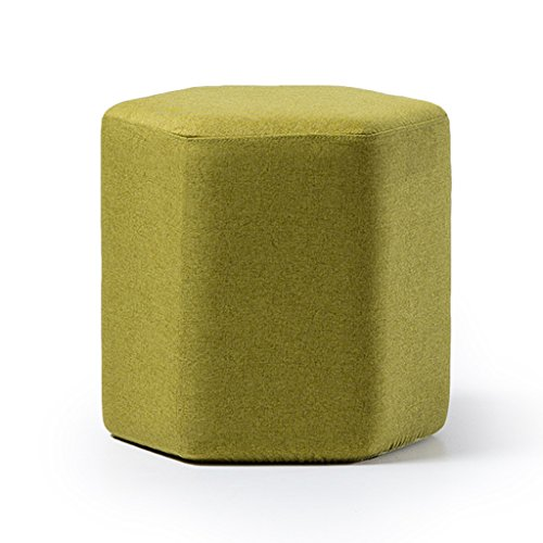 Tabouret en bois massif multi-usages multicolor canapé tabouret maquillage tabouret reste tabouret amovible lavage 42 * 40cm (Color : Green)