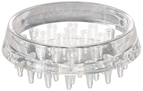 Shepherd Hardware, Clear 9081 1-1/2-Inch Spiked Furniture Cup, Plastic, 4-Pack