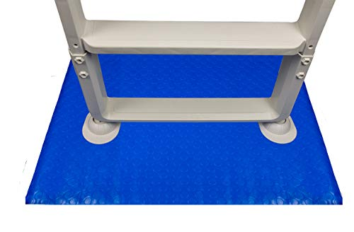 Aqua Select 48-Inch-by-60-Inch Swimming Pool Ladder Mat or Pool Step Pad | Protect Your Vinyl Pool Liner | Acts as A Cushion Between Your Ladder or Step and The Pool Liner | Blue