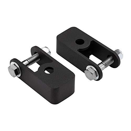 "Supreme Suspensions - Adjustable 1 - 3"" Front Suspension Lift + Shock Extenders Silverado 4WD Leveling Kit (Black) PRO"