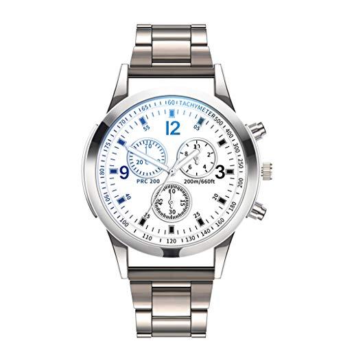 LYRICS Herren Geschäfts Armbanduhr Analog Display Quarz Diamant Uhren Mit Stilvolle Metallarmband gewölbtem Glas Uhr Kreative Gedrucktes Muster Design Uhr Bauhaus-Stil Watch