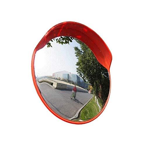 L.TSN Espejo de tráfico Lateral de Carretera, Lente Gran Angular de plástico Rojo Durable Espejo Convexo portátil encrucijada Espejo Giratorio para automóvil 45-120 cm (tamaño: 120 cm)