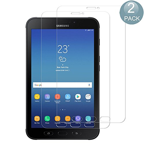 [2 Stück] Samsung Galaxy Tab Active 2 Panzerglas Schutzfolie, PULEN 9H Festigkeitgrad Glasfolie Folie Bildschirmschutzfolie [Anti Fingerabdruck] [Anti-Kratzen] [Blasenfrei] für Samsung Galaxy Tab Active 2