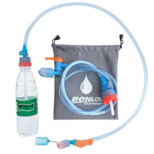 Euopat Outdoor Kletterwasserflasche Wasserflaschenschlauch Kettle Schlaucharmaturen Trinkschlauch Geeignet für Verschiedene Flaschen