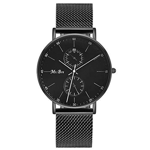 JYTFZD YANGHAO-Reloj de Pulsera- Reloj Ultrafino Hombres Negro Simple y Elegante Negocio de Lujo Impermeable Ocio Correa de Acero Inoxidable Relojes mecánicos OUZDNSSB-5